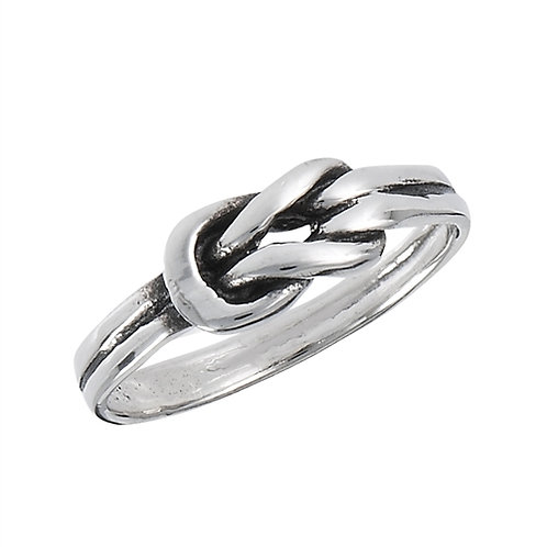 Sterling Silver Petite-Dainty Knot Ring Size 7