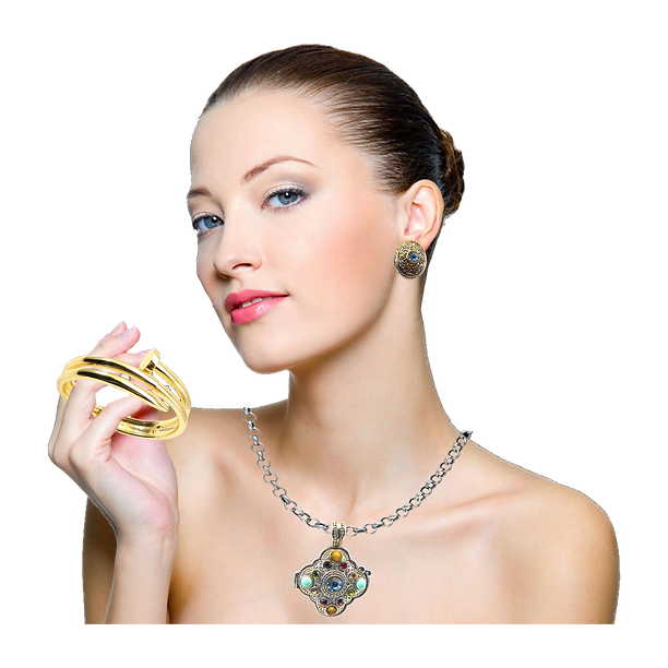 Jewelry Model with Real Imposters Jewelry