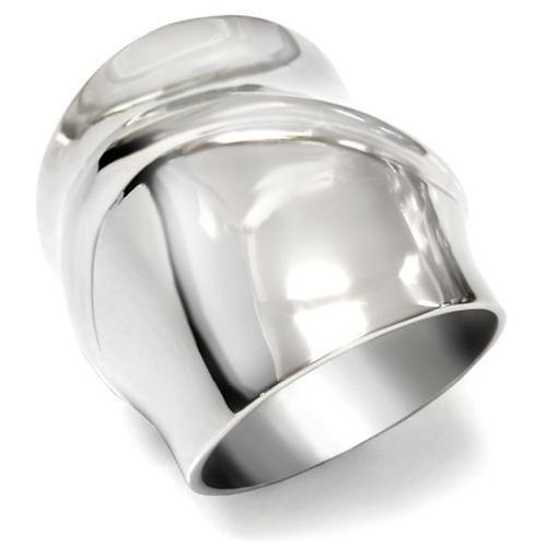Chunky & Bold Cigar Band Statement High Polished Stainless Steel  Ring 5-10