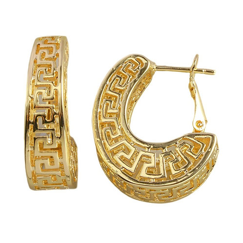 International Designer Inspired Gold-Tone Hoop Earring