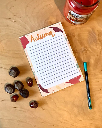 Letter Paper - Autumn - Notepad - A5 - 51 pages - Recycled Paper