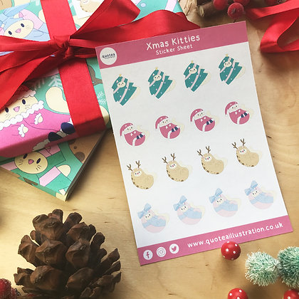 Christmas Stickers- Sticker Sheet - Planner Stickers - Biodegradable