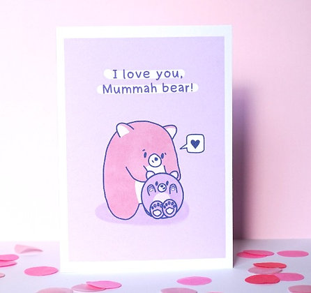 Mummah Bear - Greetings Card - Mother's Day