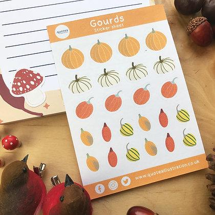 Gourds - Sticker Sheet - Planner Stickers - Biodegradable