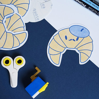 Butters - Croissant - Single Sticker - Biodegradable - Paper Stickers