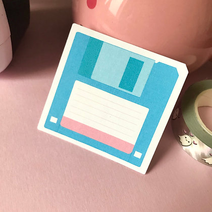 Floppy Disk - Large Sticker - Paper Sticker