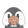 Penguin holding a Cookie
