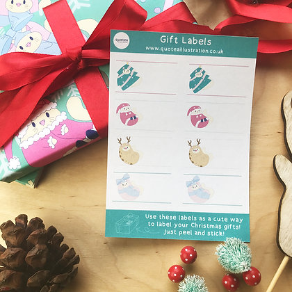 Gift Labels - Sticker Sheet - Planner Stickers - Biodegradable