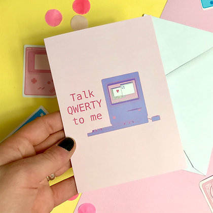 QWERTY  - Couples Card - Greetings Card - For him/ her/ them
