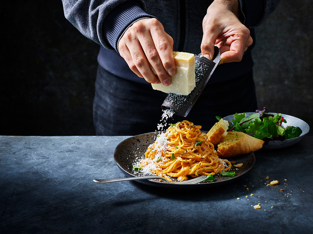 Perfect pasta with our Tomato and Mascarpone pasta sauce!