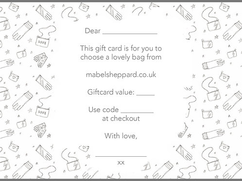 Bag Gift Card