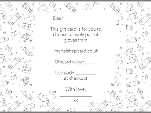 Glove Gift Card