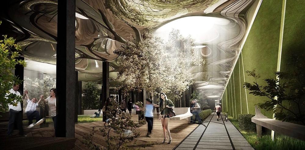 In einer alten U-Bahn-Station soll der erste unterirdische Park der Welt entstehen, die Lowline