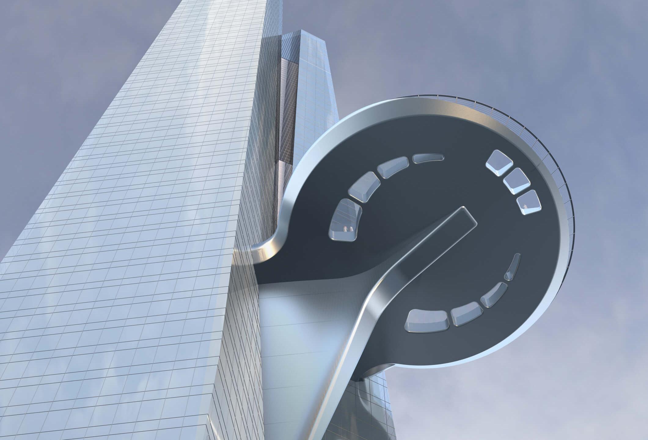 Die Aussichtsplattform des Jeddah Tower