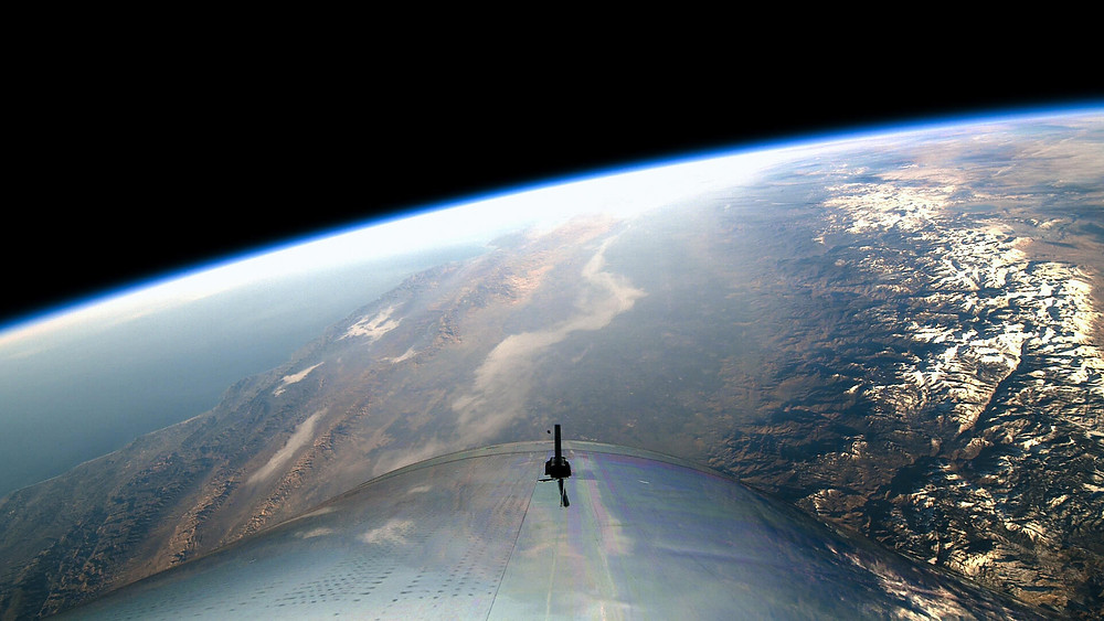 Virgin Galactic Sicht aus Weltall