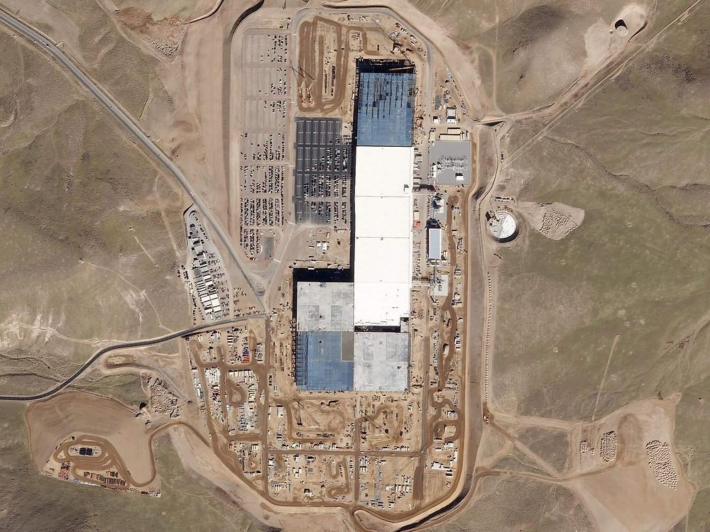 Gigafactory Tesla Baufortschritt