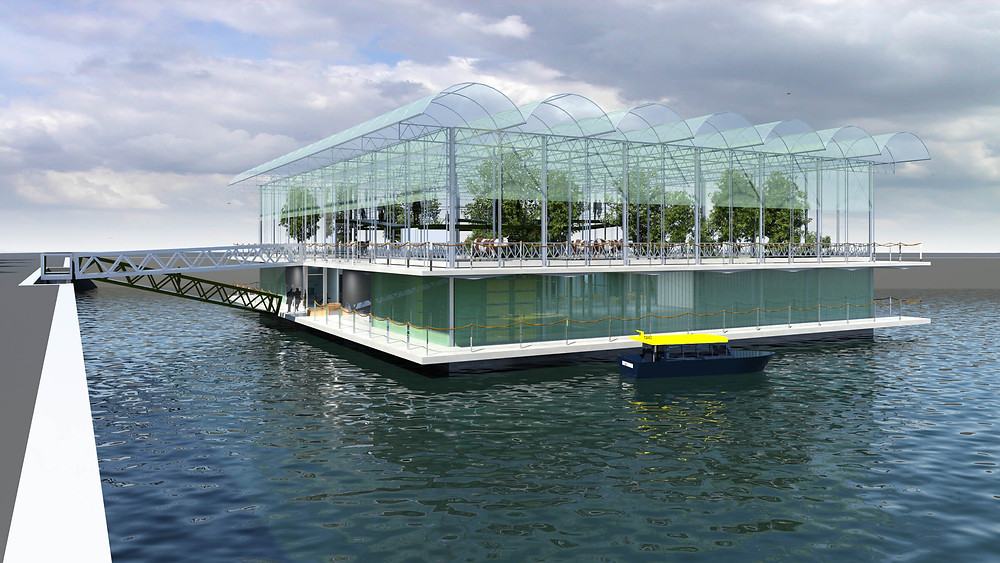 Artwork der Floating Farm in Rotterdam