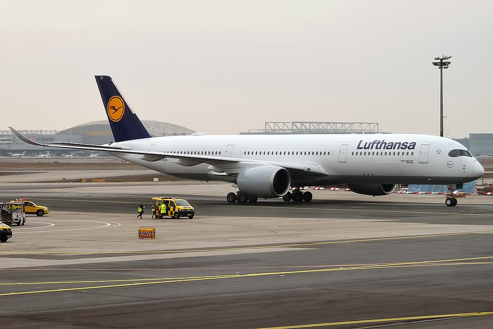 Der Airbus A350 der Lufthansa, das modernste Flugzeug der Welt