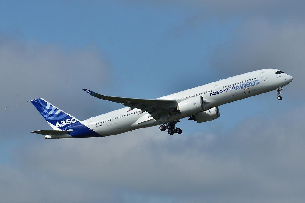 Der Airbus A350, das modernste Flugzeug der Welt, im Einsatz