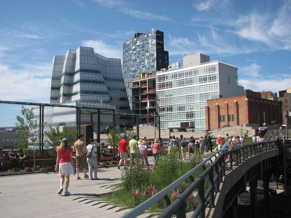 Der Highline Park und der Lowline Park in New York City