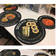 Whole Foods Market™ chalk art for squash tasting notes installation, 2017.