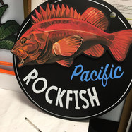 Whole Foods Market™ seafood chalkboard with 3D interchangeable fish, 2018