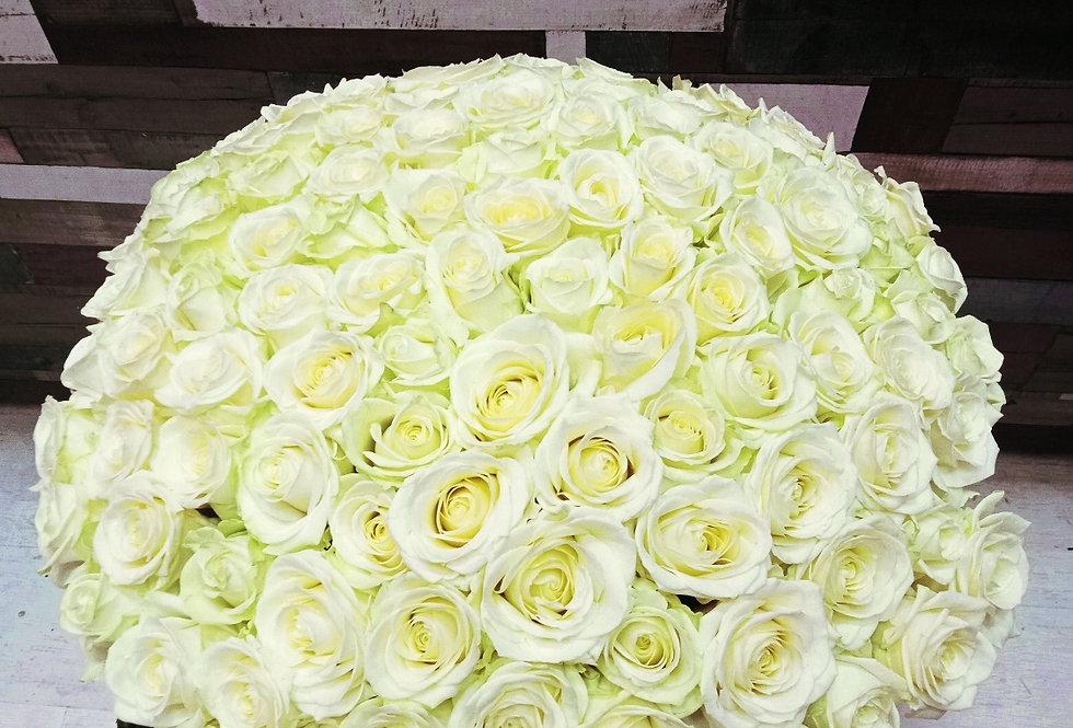 Букет из белых роз 101шт