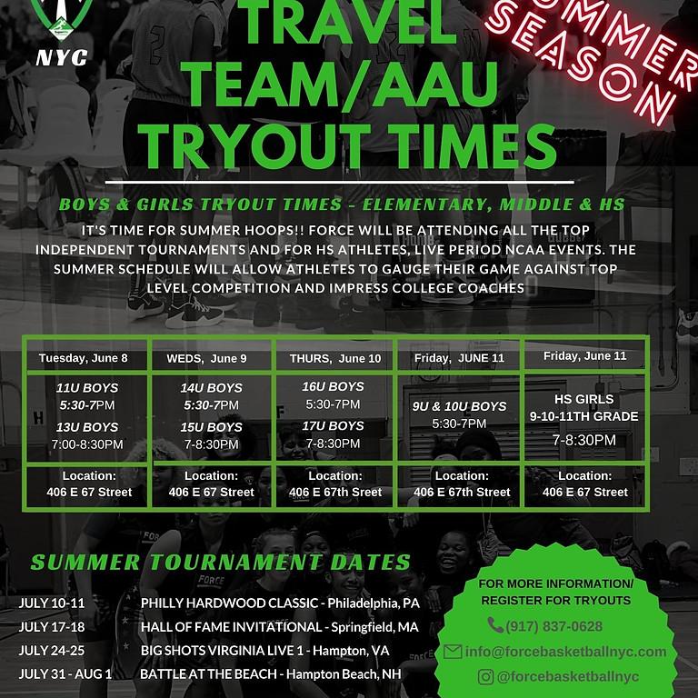 BOYS 9U & 10U Travel Team Tryouts (Summer 2021)