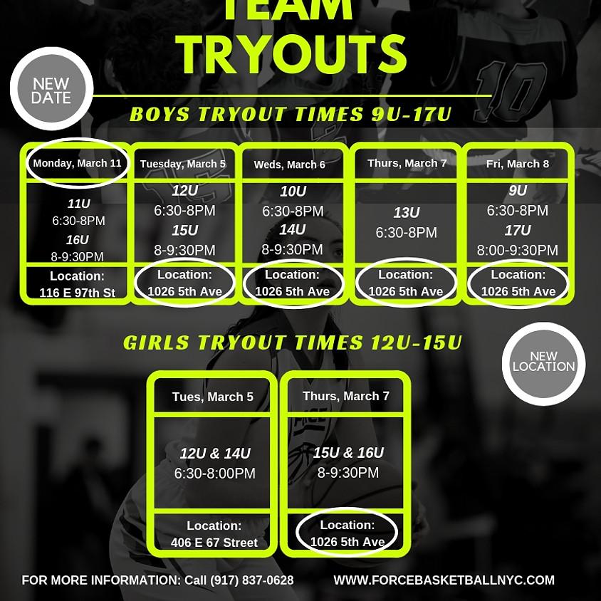 BOYS 17U AAU/Travel Team Tryouts (Spring 2019)