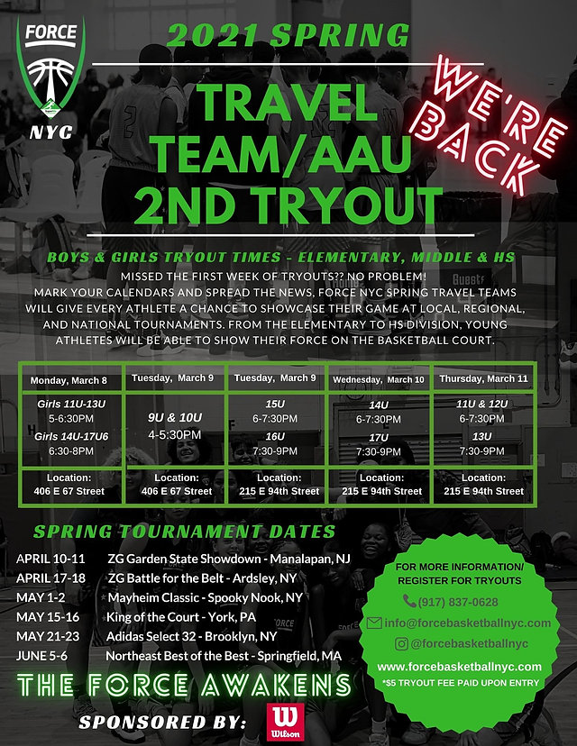 Travel Team 2nd Tryouts - Spring 2021.jp