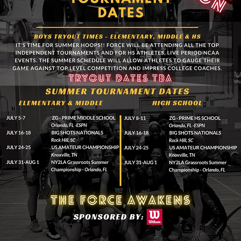 Force Miami Summer Tryouts