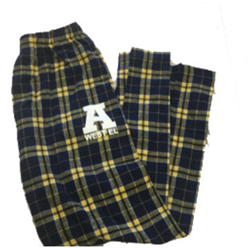 Flannel Pant with 2 Side Pockets Navy/Gold