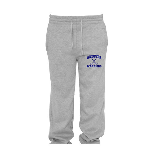 Pennant 10 ounce gray open bottom sweatpants
