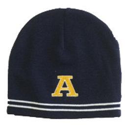 Sport Tek Navy Beanie knit hat