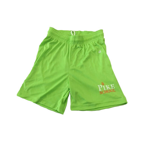 Badger Ladies Short Lime Green with Pike Logo