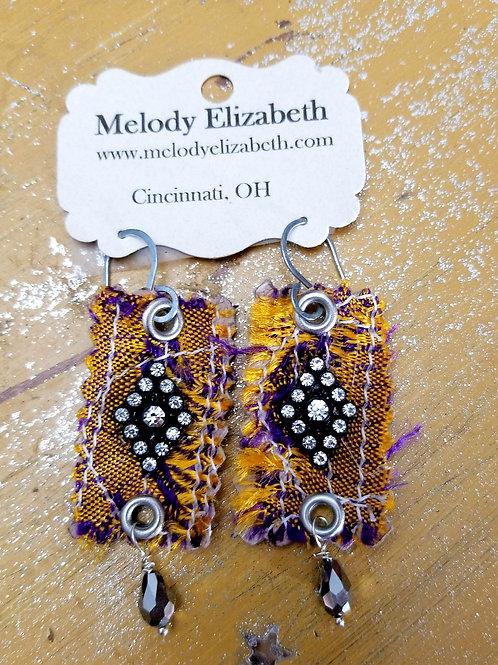 Silk fabric earrings