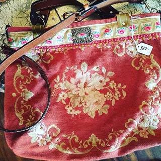 Needlepoint handbag made by Melody Eliza