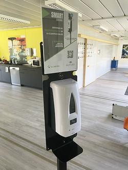 Distributeur de gel connecté