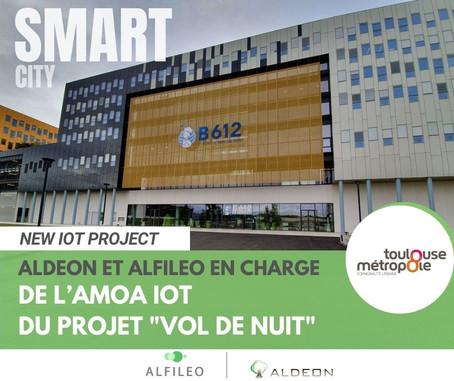 Aldeon et Alfileo en charge de l'AMOA IoT du projet « Vol de nuit » de Toulouse Métropole
