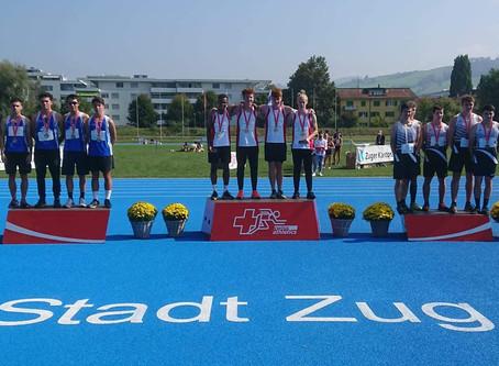 Silber über 4x100 Meter an der Staffel SM