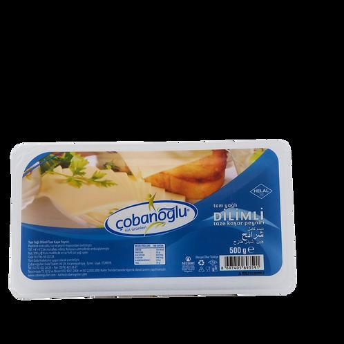 Çobanoğlu Tam Yağlı Dilimli Kaşar Peyniri 500g