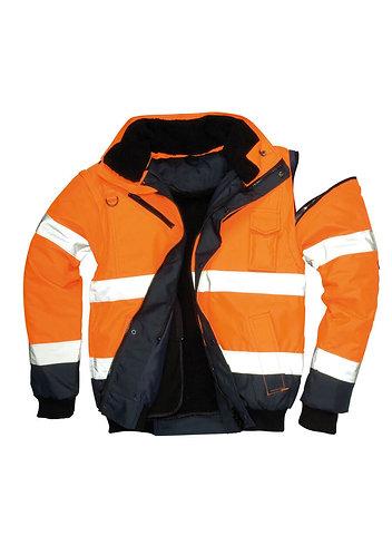 Reflektörlü İş Güvenliği Montu Çift Renk