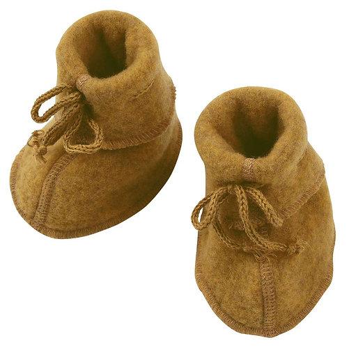 ENGEL merino topánočky šafrán