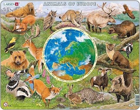 Larsen puzzle Zvieratá Európy (slovesnká verzia)