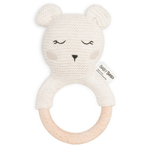 Organické hryzátko s hrkálkou Bobby the Polar Bear