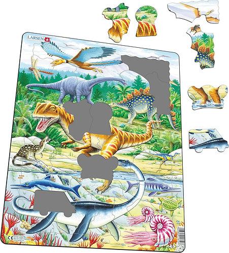 Larsen puzzle Dinosaury