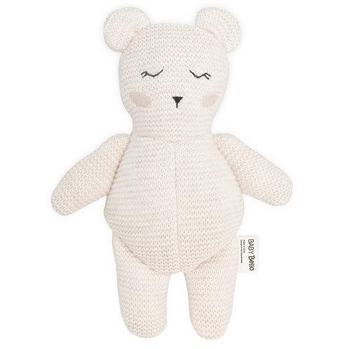 Organická hračka s hrkálkou Bobby the Polar Bear