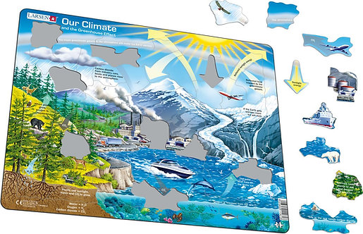 Larsen puzzle Podnebie (anglická verzia)