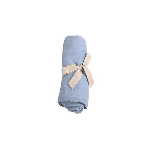 Mušelínová plienka z organickej bavlny Filibabba pudrovo-modrá