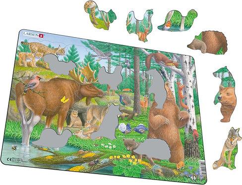 Larsen puzzle Zvieratá v pohoriach